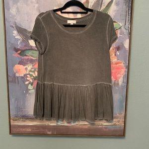 Gray Peplum T-Shirt